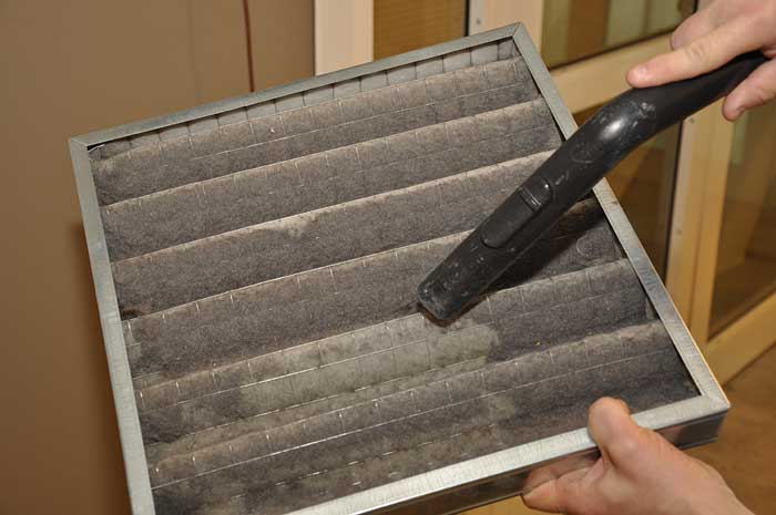 dirty furnace filter cleaning